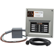 Generac 6853 30 Amp Indoor Transfer Switch Kit for 6-8 Circ Resin Pib & Conduit 30 Amp Plug, Upgradeable