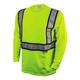 Dewalt DST921-XL ANSI 107-2010 Class 2 Long Sleeve FR T-Shirt (X-Large)