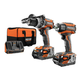Factory Reconditioned Ridgid ZRR9205 18V 4.0 Ah Cordless Lithium-Ion Brushless Hammer Drill and Impact Driver Combo Kit