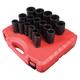 Sunex Tools 4686 17-Piece 3/4 in. Drive Metric Deep Impact Socket Set