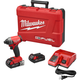 Factory Reconditioned Milwaukee 2757-82CT M18 FUEL 2.0 Ah Cordless Lithium-Ion 1/4 in. Hex Impact Driver Kit with ONE-KEY Connectivity