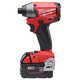 Milwaukee 2653-22 M18 FUEL 18V Cordless Lithium-Ion 1/4 in. Impact Driver Kit with XC Batteries