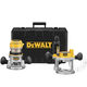 Factory Reconditioned Dewalt DW618PKR 2-1/4 HP EVS Fixed Base & Plunge Router Combo Kit with Hard Case
