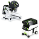 Festool PD561287 Kapex Sliding Compound Miter Saw with CT MIDI 3.3 Gallon Mobile Dust Extractor