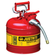 Justrite 7220120 Type II Accuflow Steel Safety Can for Oil (2 Gallons)