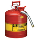 Justrite 7250130 Type II Accuflow Steel Safety Can for Flammables (5 Gallons)