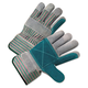 Anchor ANR2300 2000 Series Leather Palm Gloves, Gray/Green/Red, 12 Pairs