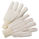 Anchor ANR1060 1000 Series Canvas Gloves, White, Large, 12 Pairs