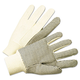 Anchor ANR1005 1000 Series PVC Dotted Canvas Gloves, White/Black, Large, 12 Pairs