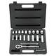 Stanley Tools 85-404 20-Piece 3/8 in. Drive 12-Point SAE Standard/Deep Socket Set