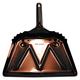 Magnolia Brush #6 DUST PAN 12 in. Edge Metal Dust Pan (Black)