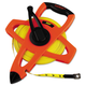 Lufkin FE200 200 ft. Engineer Hi-Viz Fiberglass Measuring Tape in Orange Case (Yellow Blade)