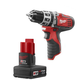 Milwaukee 2411-22X M12 12V Cordless Lithium-Ion 3/8 in. Hammer Drill Driver with XC High Capacity Battery