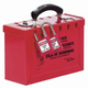 Master Lock 498A 6 in. x 9-1/4 in. x 3-3/4 in. Metal Group Lock Box, Red