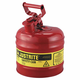 Justrite 7120100 Type I Steel Safety Can for Flammables (2 Gallons)