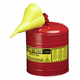 Justrite 7150110 5G/19L SAFE CAN RED W/FUNL