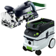 Festool P26574422 Domino XL Joiner with CT 26 E 6.9 Gallon HEPA Mobile Dust Extractor