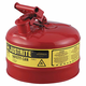 Justrite 7125100 Type I Steel Safety Can for Flammables (2.5 Gallons)