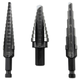 Irwin Unibit 10502ZR 3-Piece Unibit Fractional Step Drill Bit Set