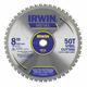 Irwin 4935557 Metal Cutting Blades, 8 in, 50 Teeth