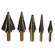 ATD 9200 5-Piece SAE Step Drill Bit Set
