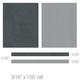 3M 74830 Scotchcal Elite Double Striping Tape, Light Charcoal Metallic/Silver Metallic