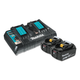 Makita BL1850B2DC2 18V LXT Cordless Lithium-Ion 5.0 Ah Battery & Charger Starter Pack