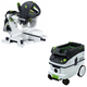Festool P26561287 Kapex Sliding Compound Miter Saw with CT 26 E 6.9 Gallon HEPA Dust Extractor