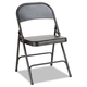 Alera ALEFC94B Steel Folding Chair with Two-Brace Support, Graphite, 4/Carton