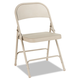 Alera ALEFC94T Steel Folding Chair with Two-Brace Support, Tan, 4/Carton