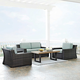 Crosley Furniture KO70096BR Beaufort 4-Piece Rattan Wicker Outdoor Seating Set (Brown/Mist)