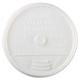 Dart 16UL Plastic Lids, for 16oz Hot/Cold Foam Cups, Sip-Thru Lid, White, 1000/Carton