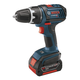 Bosch DDS181-03 18V Cordless Lithium-Ion Compact Tough 1/2 in. Drill Driver with 2 HC Batteries