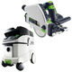 Festool P36561556 Plunge Cut Circular Saw with CT 36 E 9.5 Gallon HEPA Mobile Dust Extractor