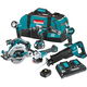 Makita XT611PT 18V LXT 5.0 Ah Lithium-Ion Brushless Cordless 6-Piece Combo Kit