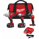 Milwaukee 2996-23 M18 18V Cordless Lithium-Ion 3/8 in. Impact Wrench & 1/2 in. High-Torque Impact Wrench 2-Tool Combo Kit