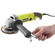 Factory Reconditioned Ryobi ZRAG454 7.5 Amp 4.5 in. Angle Grinder