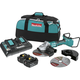 Makita XAG13PT1 18V X2 LXT Lithium-Ion (36V) Brushless Cordless 9 in. Paddle Switch Cut-Off/Angle Grinder Kit with Electric Brake