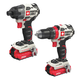 Porter-Cable PCCK619L2 20V MAX Lithium-Ion Brushless 1/2 in. Cordless Drill Driver / 1/4 in. Cordless Impact Drill Kit (1.5 Ah)