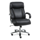 Alera ALEMS4419 Maxxis Series Big And Tall Leather Chair, Black/chrome