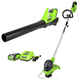 Greenworks 1301202 STBA40B210 40V String Trimmer and Axial Blower with 2 Ah Battery and Charger