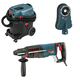 Bosch 11255VSR-OSHA 1 in. SDS-plus D-Handle Bulldog Xtreme Rotary Hammer with Dust Collection System