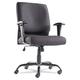 OIF OIFBT4510 Big and Tall Swivel/Tilt Mid-Back Chair (Height Adjustable T-Bar Arms/Black)
