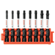 Bosch CCSSQV208 8-Piece Impact Tough Square 2 in. Power Bits with Clip for Custom Case System