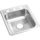 Elkay D117213 Dayton Top Mount 17 in. x 21-1/4 in. Single Bowl Bar Sink (Stainless Steel)