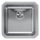 Elkay ELUH1616 Lustertone Undermount 18-1/2 in. x 18-1/2 in. Single Bowl Sink (Stainless Steel)