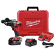 Milwaukee 2902-22 M18 Lithium-Ion Brushless 1/2 in. Cordless Hammer Drill Kit (2 Ah)