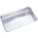 Elkay ELUH2816 Lustertone 30-1/2 in. x 18-1/2 in. x 7-1/2 in., Single Bowl Undermount Sink (Stainless Steel)