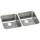 Elkay ELUH3118 Lustertone 30-3/4 in. x 18-1/2 in. x 7-7/8 in., Equal Double Bowl Undermount Sink (Stainless Steel)