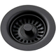 Elkay LKQS35BK Polymer Drain Fitting with Removable Basket Strainer and Rubber Stopper (Black)